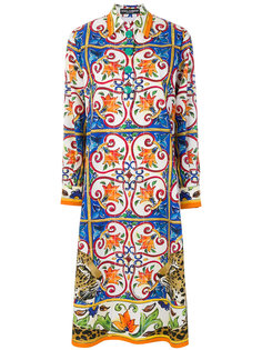 платье-рубашка с принтом Majolica Dolce & Gabbana
