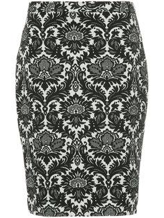 юбка-карандаш с цветочным принтом  Boutique Moschino