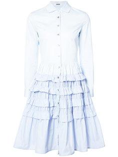 многослойное платье-рубашка с оборками Jourden