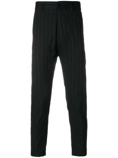striped slim fit trousers Ann Demeulemeester Blanche