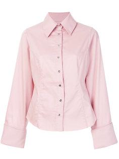 приталенная рубашка с необработанным подолом Marquesalmeida