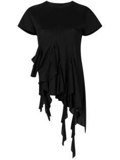 футболка с асимметричным подолом и оборками Marquesalmeida