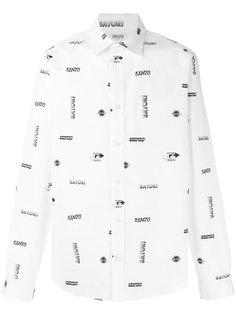 рубашка с принтом логотипа Kenzo
