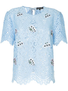 embroidered guipure lace tee Markus Lupfer