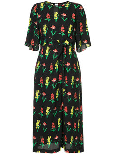 knotted floral midi dress Muveil