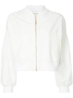 tied shoulder bomber jacket Muveil