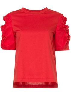 ruched shoulder T-shirt Muveil
