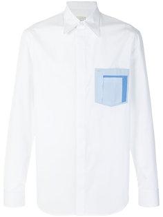 рубашка с контрастным нагрудным карманом Maison Margiela