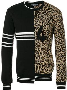 свитер с контрастными панелями Dolce & Gabbana