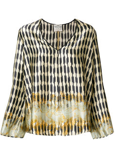 расклешенная блузка с вышивкой Forte Forte