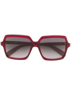 массивные квадратные солнцезащитные очки Saint Laurent Eyewear
