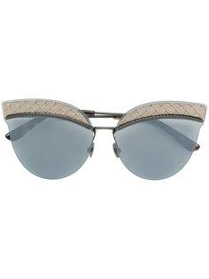 """контрастные солнцезащитные очки в оправе """"кошачий глаз"""" Bottega Veneta Eyewear"""