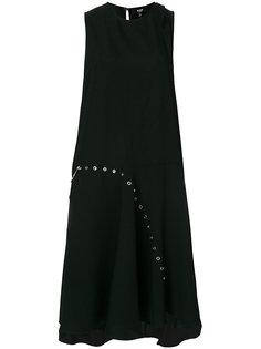платье без рукавов с люверсами Versus