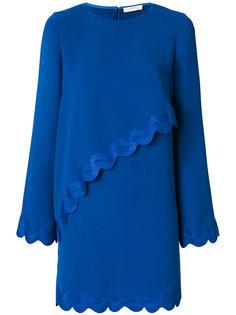 платье с волнистой отделкой Versace Collection