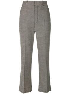 брюки строго кроя с необработанными краями Helmut Lang