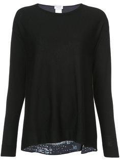 свитер с принтом на спине Akris Punto