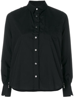 рубашка с молниями по бокам Sacai