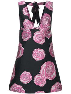 платье А-образного силуэта с цветочным принтом Ganni