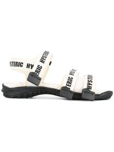 сандалии с ремешками с логотипом Hysteric Glamour