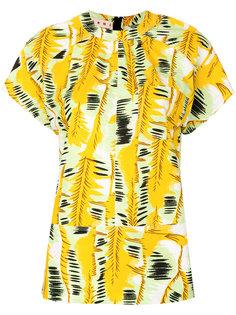 блузка с абстрактным принтом  Marni