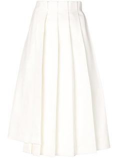 асимметричная плиссированная юбка миди Jil Sander