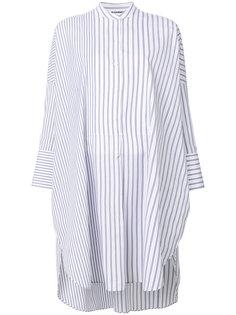 удлиненная полосатая рубашка  Jil Sander