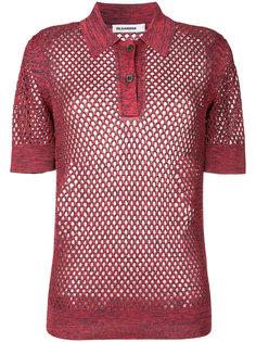 полупрозрачная футболка-поло Jil Sander
