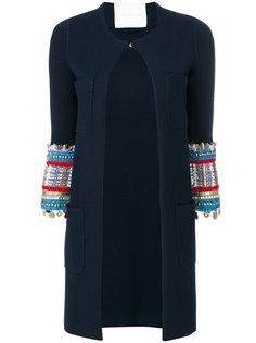 embroidered and embellished cuff cardi-coat Giada Benincasa