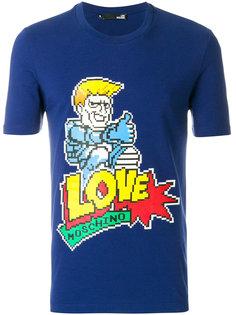 футболка с логотипом 8 bit Love Moschino