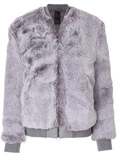 куртка с отделкой искусственным мехом Dondup