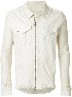 кожаная куртка с накладными карманами Giorgio Brato