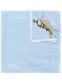 шарф с вышивкой тигра Kenzo