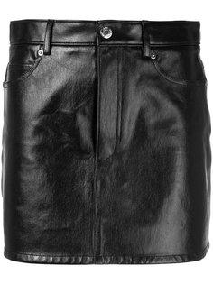 мини-юбка с пятью карманами Helmut Lang