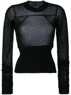 полупрозрачный свитер Rick Owens
