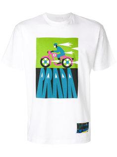 футболка с прином мотоцикла Prada