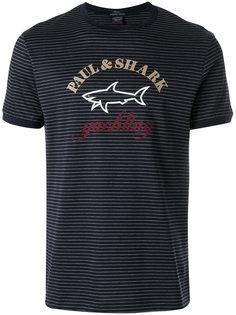 полосатая футболка с принтом логотипа Paul & Shark