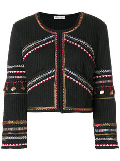 embroidered cropped jacket Love Shack Fancy