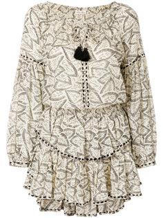 платье с цветочным принтом и кисточками Love Shack Fancy