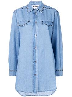 джинсовая рубашка с заклепками Moschino