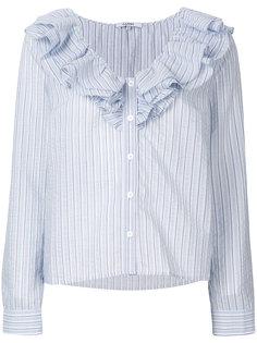 рубашка с оборками Ganni