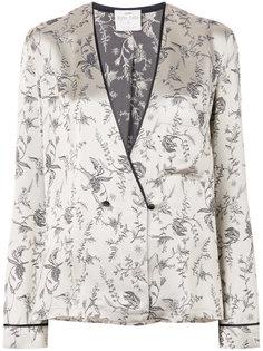 атласный пиджак в пижамном стиле Forte Forte