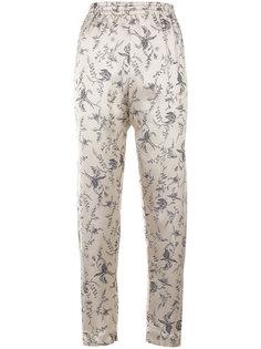 жаккардовые брюки с цветочным принтом Forte Forte