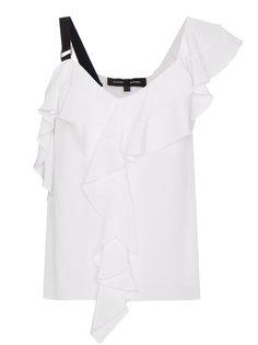 асимметричная блузка с оборкой  Proenza Schouler