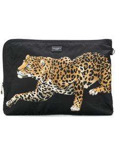 сумка с принтом леопарда Dolce & Gabbana