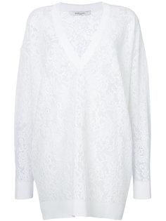 джемпер оверсайз с цветочным узором Givenchy