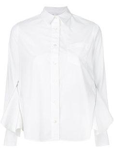 рубашка с вставками по бокам Sacai