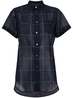 прозрачная рубашка с сетчатым принтом Sacai