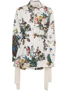 куртка с цветочным принтом Adam Lippes