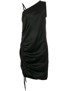 асимметричное платье со сборкой T By Alexander Wang