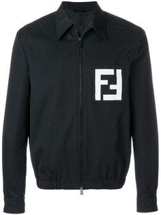 куртка рубашечного кроя с принтом логотипа Fendi